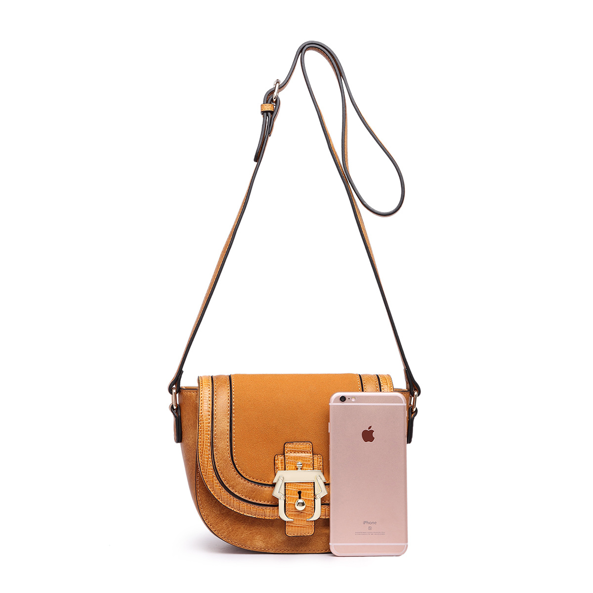 Saddle PU Leather Flip Single Shoulder Bag