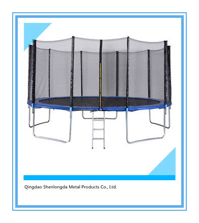14FT Round Trampoline Fit in Yard for Family