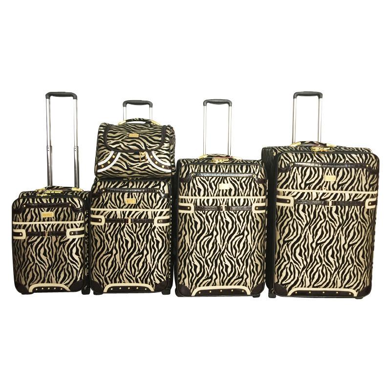 PU Leather Trolley Luggage Travel Bag Jb1502