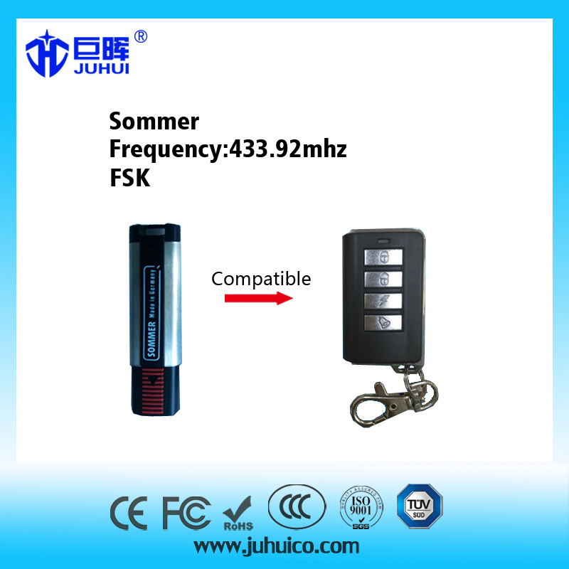 Compatible with The Original Fsk Sommer 433.92MHz Replacement Remote Control