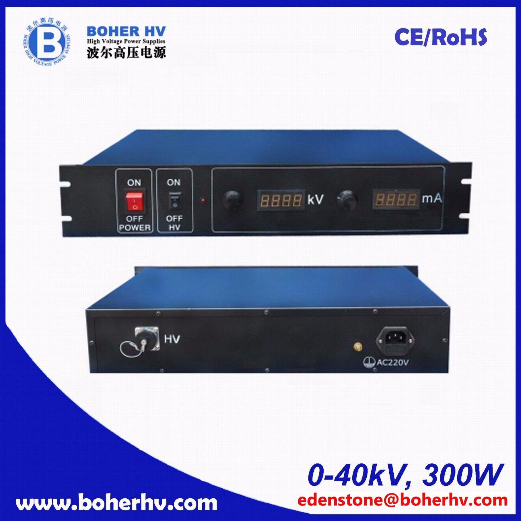 High Voltage Rack power supply 300W 40kV LAS-230VAC-P300-40K-2U