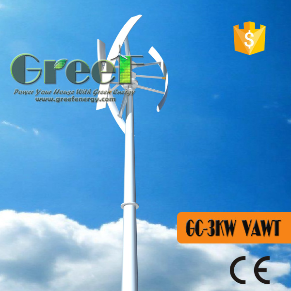 Vertical Axia Wind Turbine Generator 1-10kw with Ce