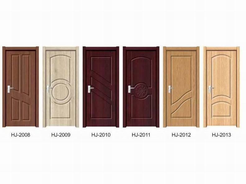 Porte en bois int rieure de pvc s ries de hj porte en - Modele porte en bois interieur ...