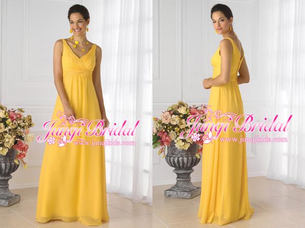 Dress Yellow Dress Pa1087 China womens evening wear bridal dresses