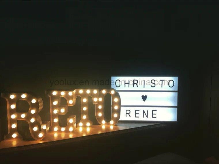 Cinematic A5 Light Box DIY Letters Display LED Light Box