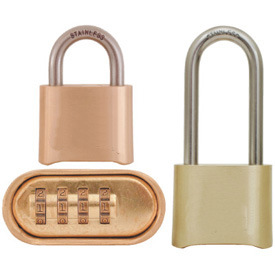 Brass Combination Padlock Bottom Opening