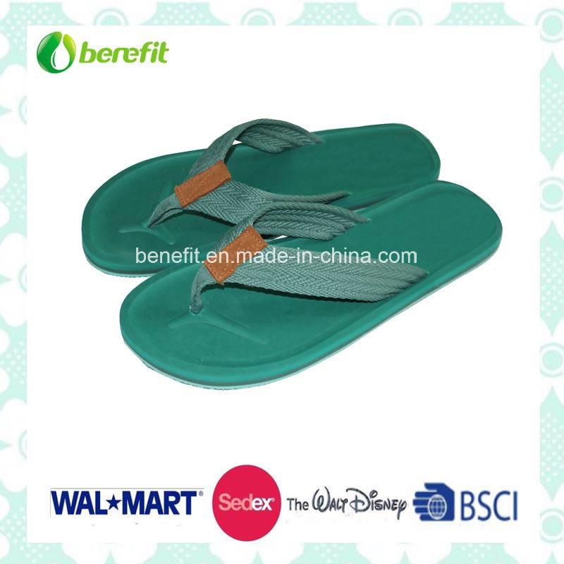 TPR Sole and PU Straps, Men′ Beach Slippers