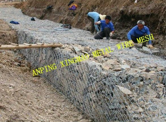 China 2mx1mx1m Gabion/Direct Factory Hot-Dipped Galvanized Gabion (XM-00B)