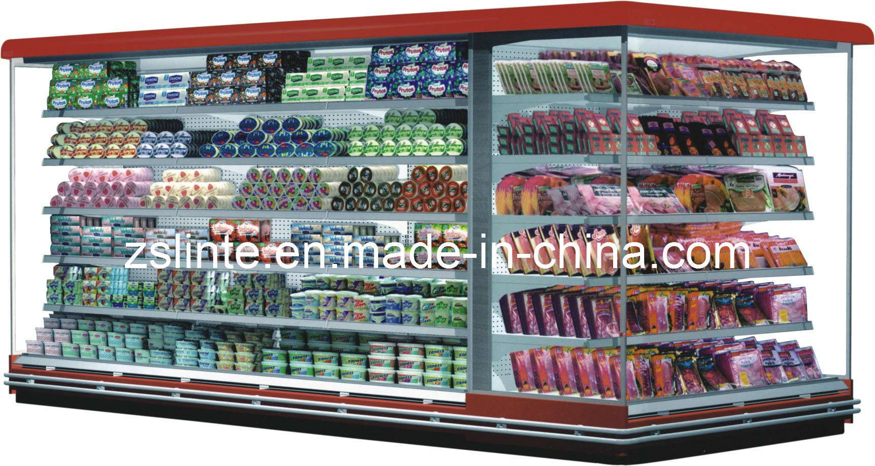 Supermarket refrigerator display show case freezer cabinet