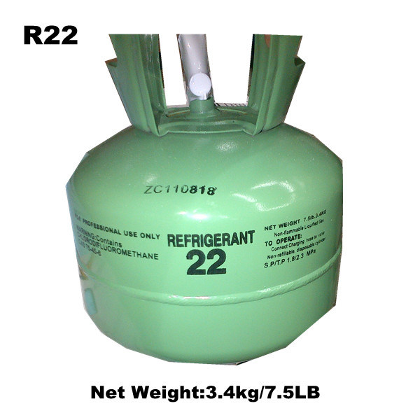 Manufactory Supply 3.4kg/7.5lb Refrigerant R22 Wth Very Competitive Price