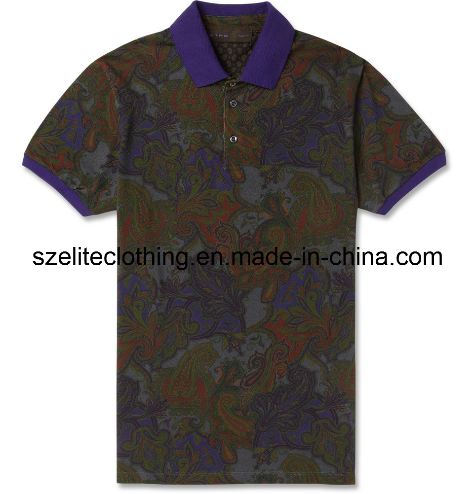 Cheap Printed Polo Shirts Screen Printing Cotton Polo T-Shirts