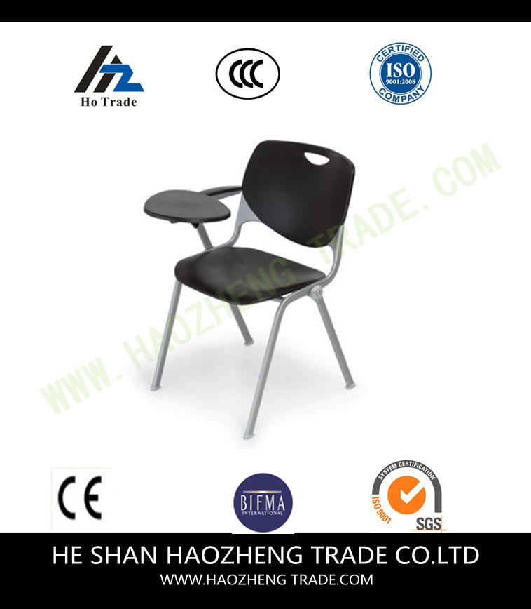 Hzpc273 Capacity Black Plastic Stack Chair with Fabric Surface