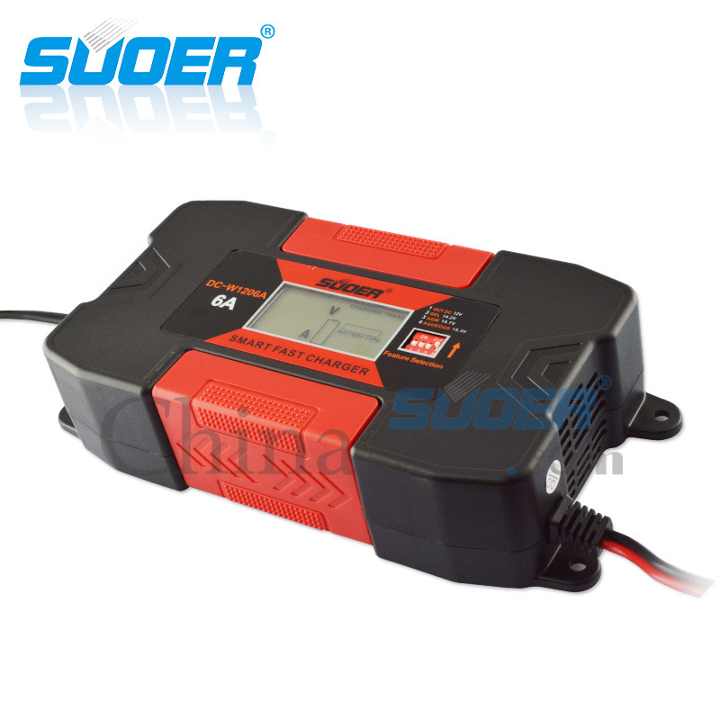 Suoer 12V 6A Intelligent Smart Fast Battery Charger (DC-W1206A)