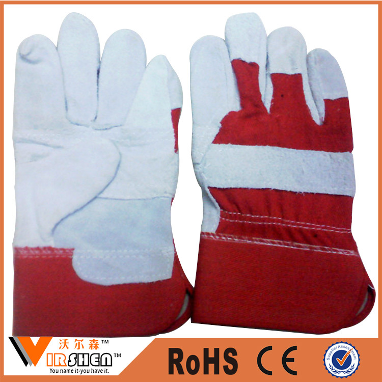 Heavy Duty Double Palm Cow Leather Work Gloves Indonesia