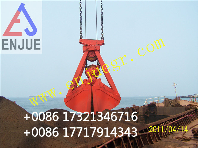 Four Ropes Mechanical Clamshell Bulk Materials Grab Bucket