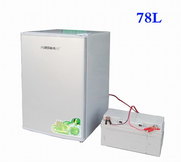 Purswave Bc-78 78L DC12V24V48V Solar Fridge Vehicle RV Refrigerator