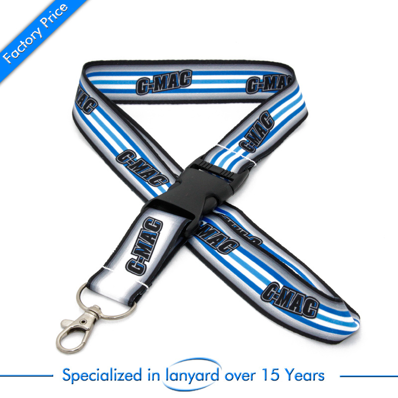 High Quality Transfer Printed Promotion Gift Lanyard