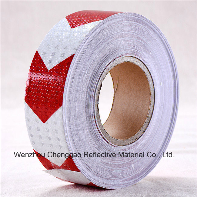 PVC Black and White Road Safety Arrow Reflective Tape (C3500-AW)