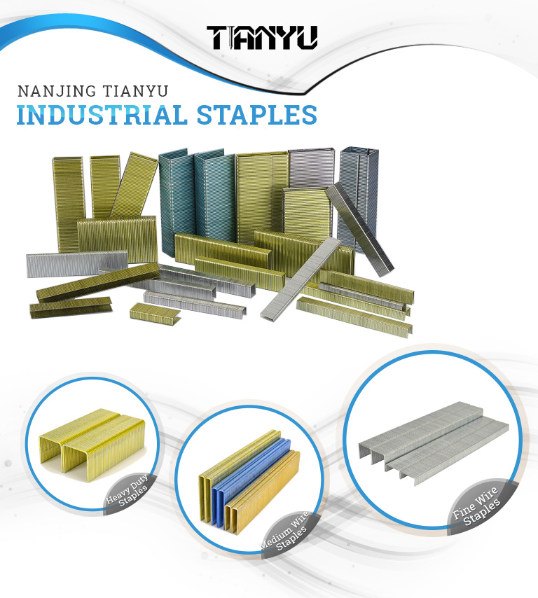 All Type and Size Galvanized Wire Industrial Staples
