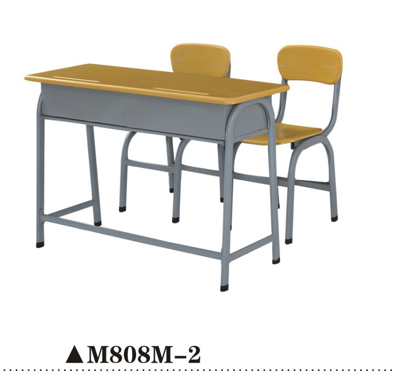 Strong School Desk and Chair for Double Seats