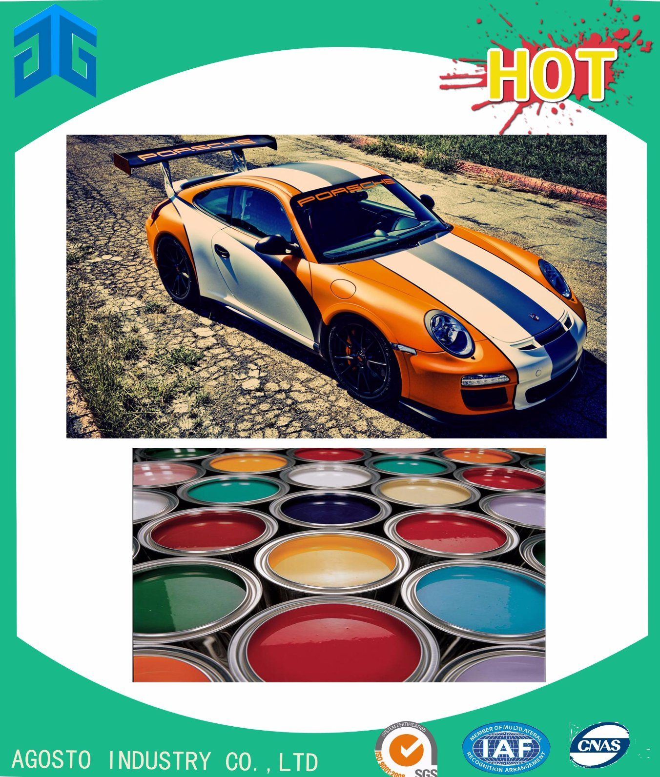 AG Brand Topcoat Solid Colors Car Paint