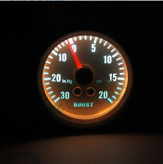 """2"""" 52mm 30-20 Boost Gauge with White Dial"""