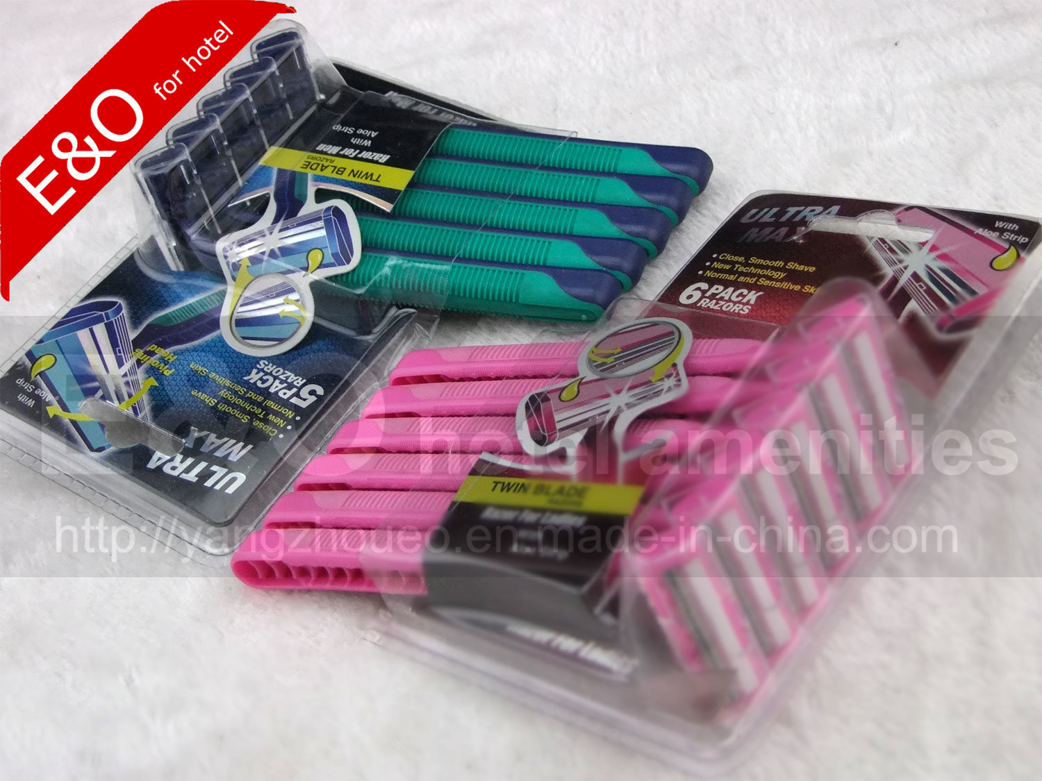 Super Grade 2 Layers Blades Head Shaving Razors in Blister Package