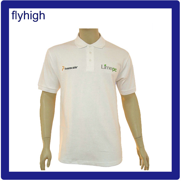 High Quality Patched Logo Embroidery Fashion Polo Shirt