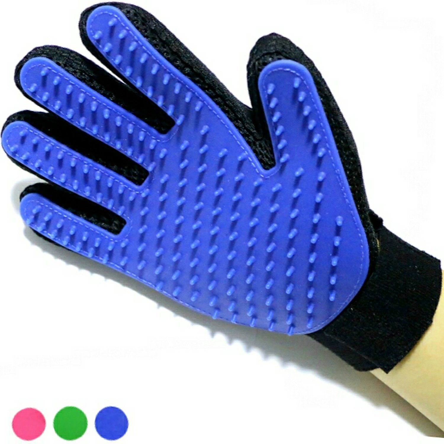 True Touch Deshedding Glove for Gentle Efficient Pet Dog Cat Grooming Glove Brush Mitt Shedding Glove Tool Pet Hair Remover Pet Massage Glove Bathing Brush COM