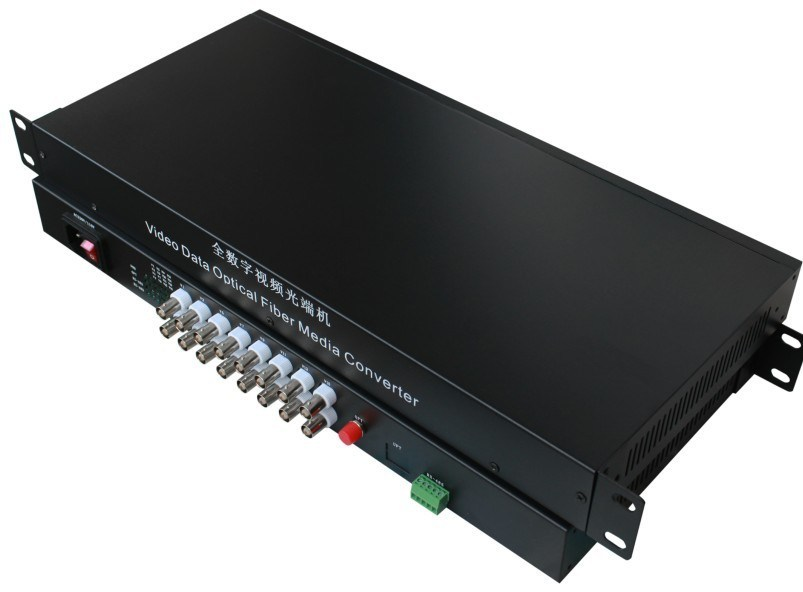 16 CH Fiber Optical Video Converter Receiver