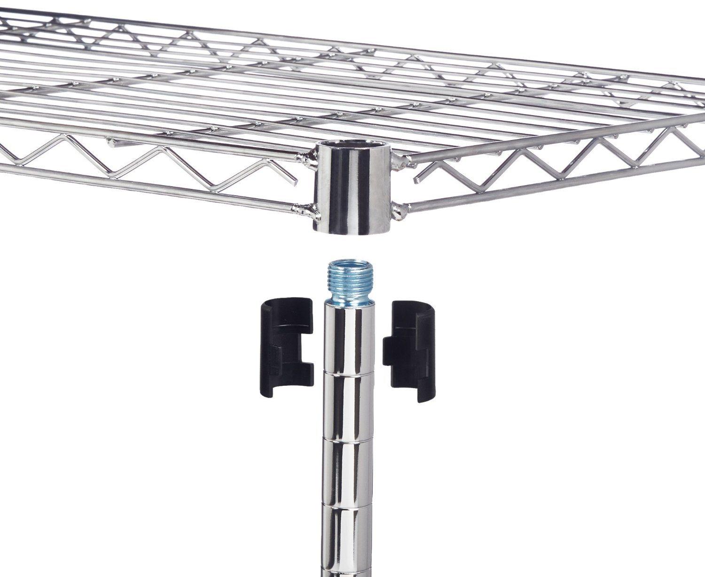 Supreme DIY 4 Layers Home Kitchen Storage Chrome Steel Wire Shelf Rack