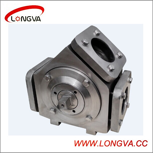 Sanitary Stainless Steel Pneumatic Plug Diverter Valve