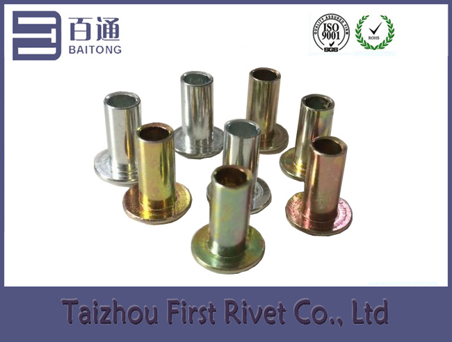 4.7X10mm Oval Head Zinc Plated Semi Tubular Steel Rivet