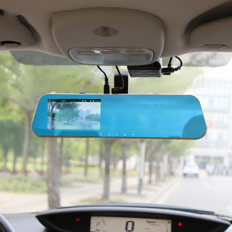 Full HD Rearview Mirror Video Recorder Dash Camcorder Car DVR