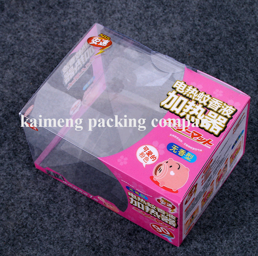 Customized Package Clear Plastic PVC Jewelry Box Foldable Design (jewelry box)