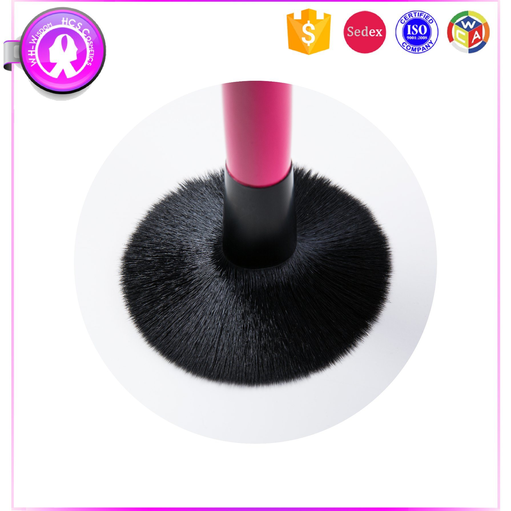 Professional 7PCS Pink Cosmetics Makeup Brush Manufacterurer