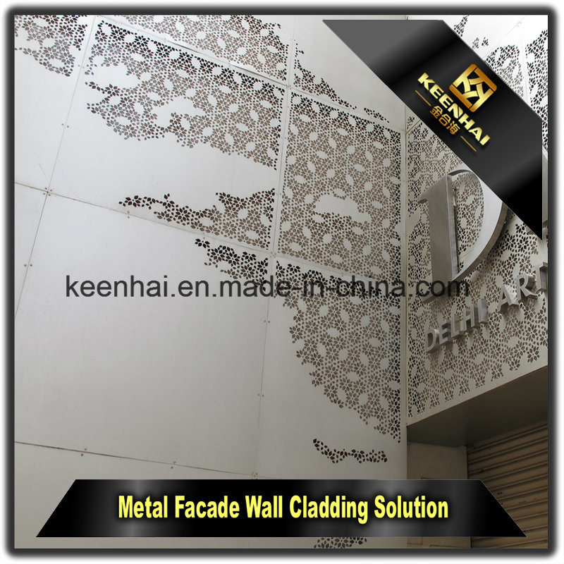 Exterior Perforated Decorative Aluminum Wall Cladding Panel
