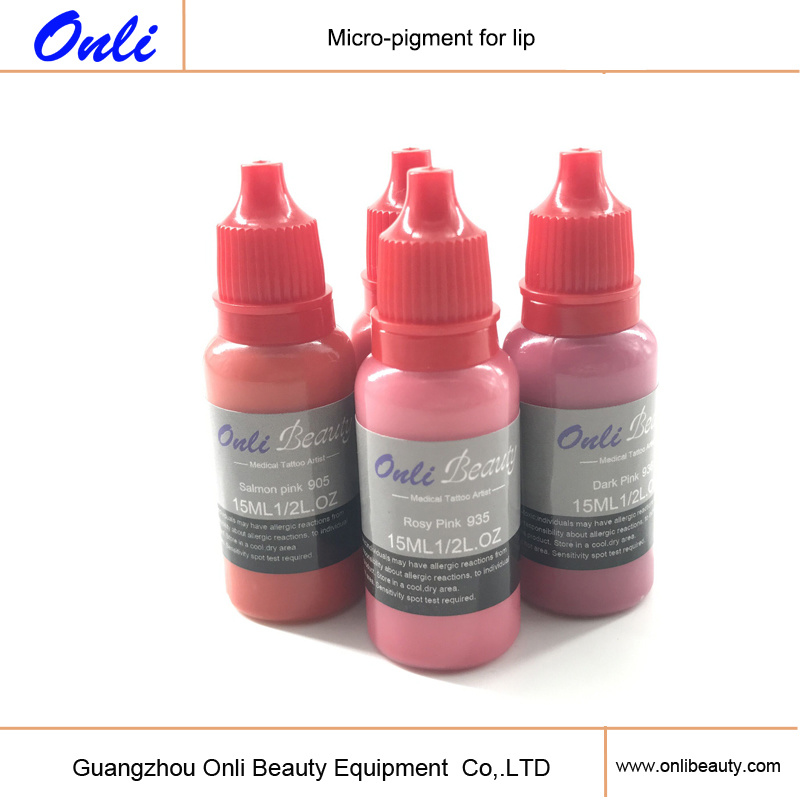 Organic Micro Pigment Tattoo Ink for Lip & Eyebrow Micropigmentation