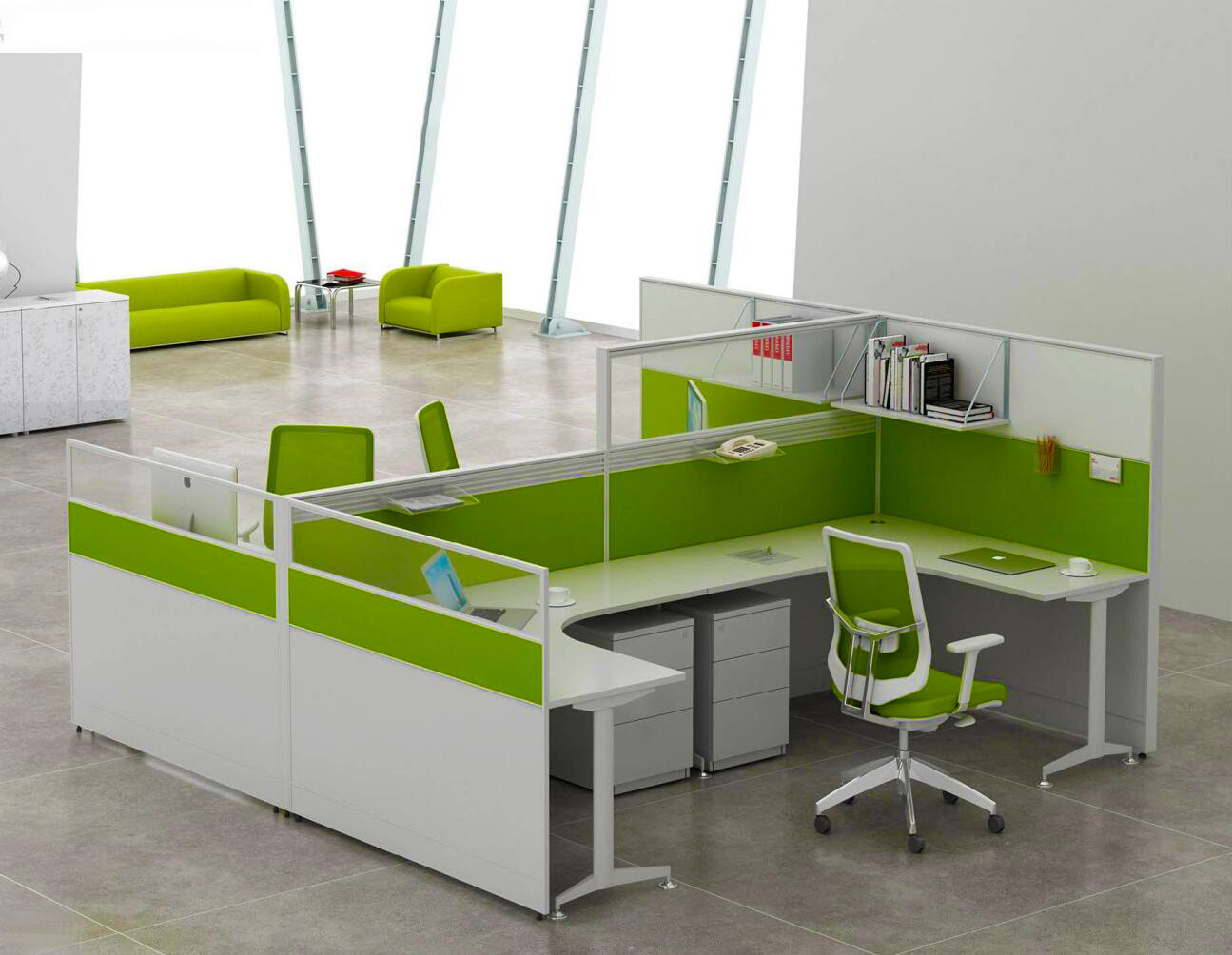 Modern Aluminum Glass Wooden Cubicle Workstation / Office Partition (NS-NW314)