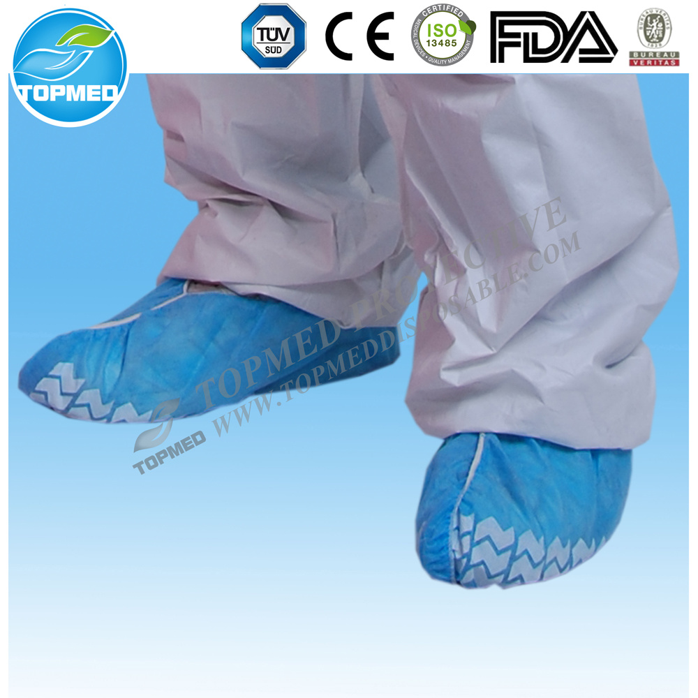 Disposable Nonwoven Shoe Cover with Antislip by Hand/Machine