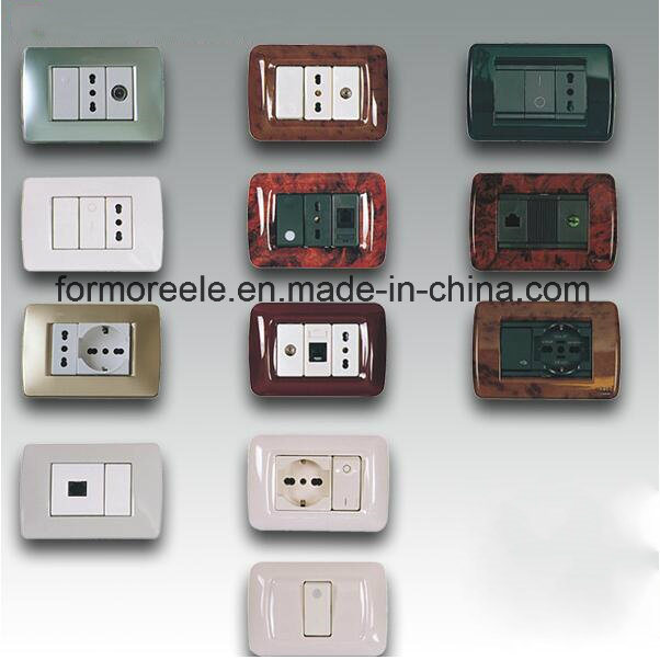 Different Types Italian Wall Switch with Socket