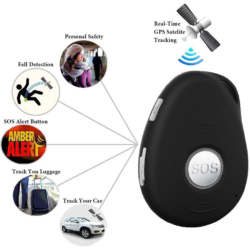 Fall Down Alert Sos Panic Button Kids Personal Mini GPS Tracker