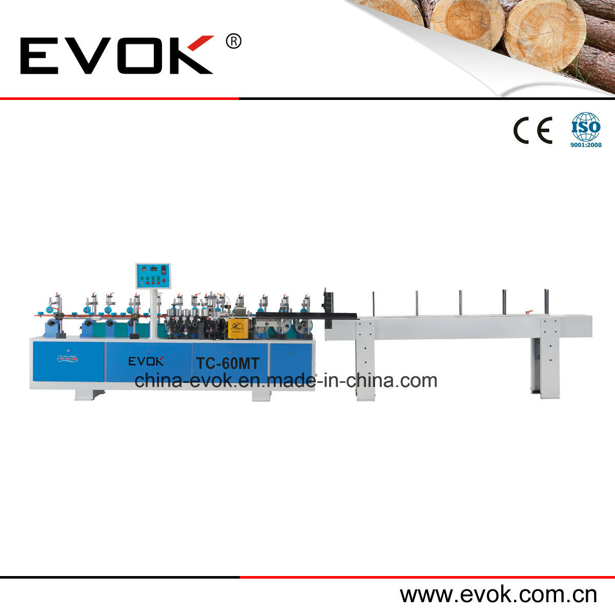 Automatic Wood Door Linear Edge Banding Machine Tc-60mt