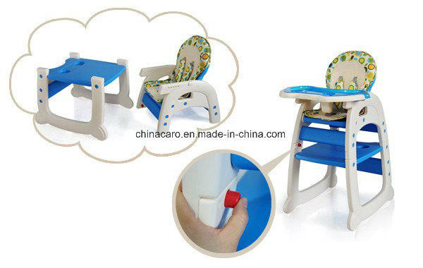 2017 New Model Plastic 3 in 1 Baby High Chair with European Standard (CA-HC550)