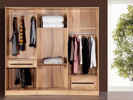 Classic Design 4 Doos Wardrobe for Bedroom Furniture (HX-LS029)