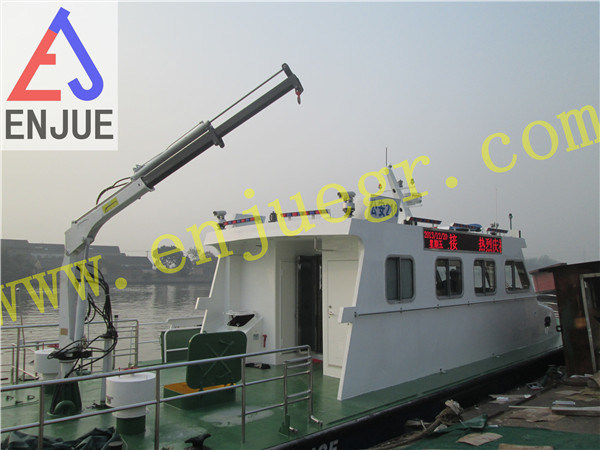 1t Hydraulic Small Size Davit Crane Fishing Crane with Telescopic Boom