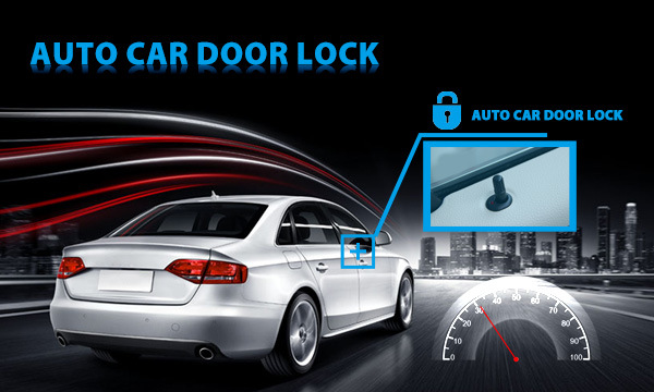 GPS Vehicle Tracker with Auto Lock Car Door Funticon