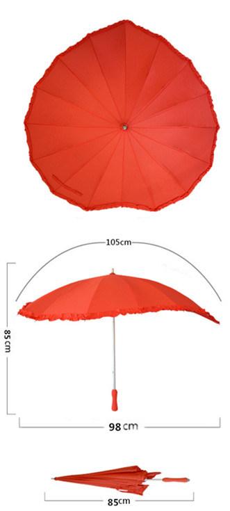 Red Heart Shaped Umbrella
