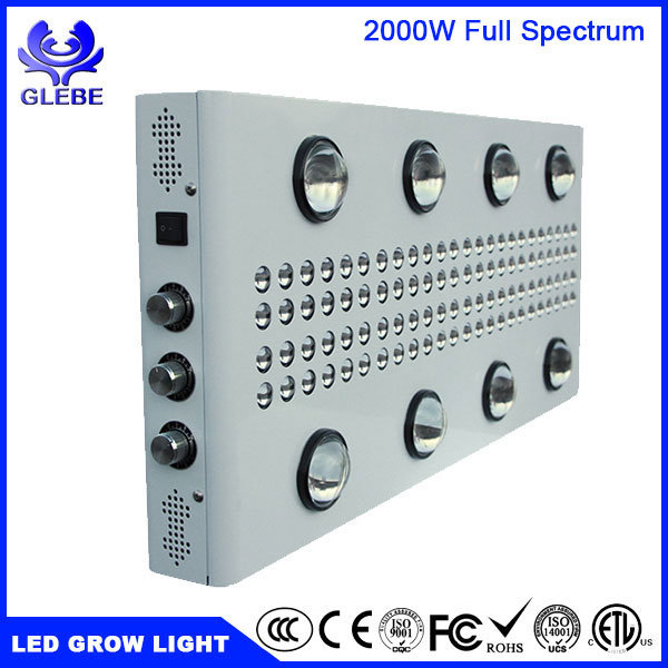 1000W 1500W 2000W LED Grow Light UV Red Blue Lighting for Indoor Plants Seedling Growing Flowering