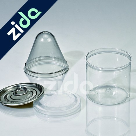 Plastic Pet Jar with Screwing Cap Lid for Cosmetic Packaging